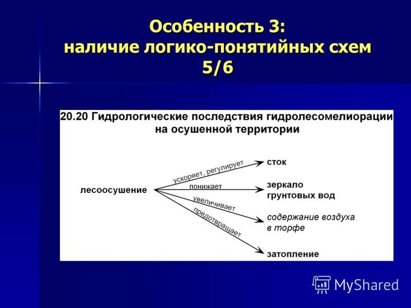 Особенность 3: наличие логико-понятийных схем 5/6
