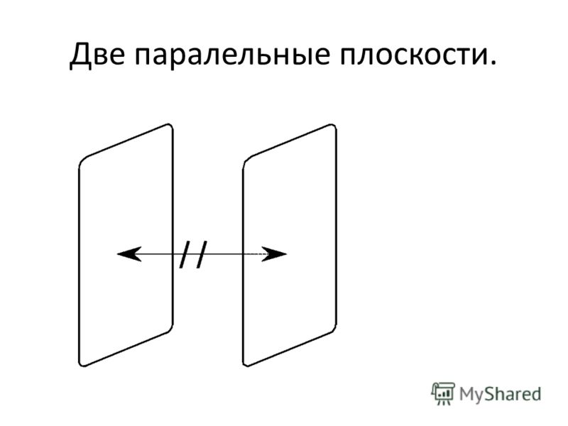 Две паралельные плоскости.
