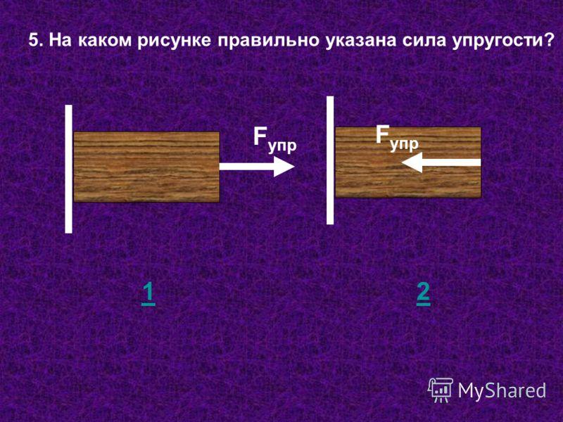 5. На каком рисунке правильно указана сила упругости? F упр 12