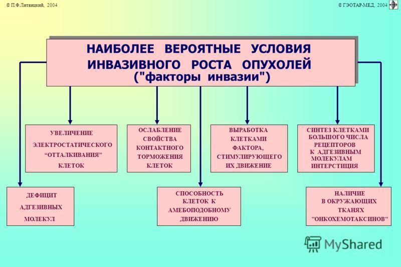 НАИБОЛЕЕ ВЕРОЯТНЫЕ УСЛОВИЯ ИНВАЗИВНОГО РОСТА ОПУХОЛЕЙ (
