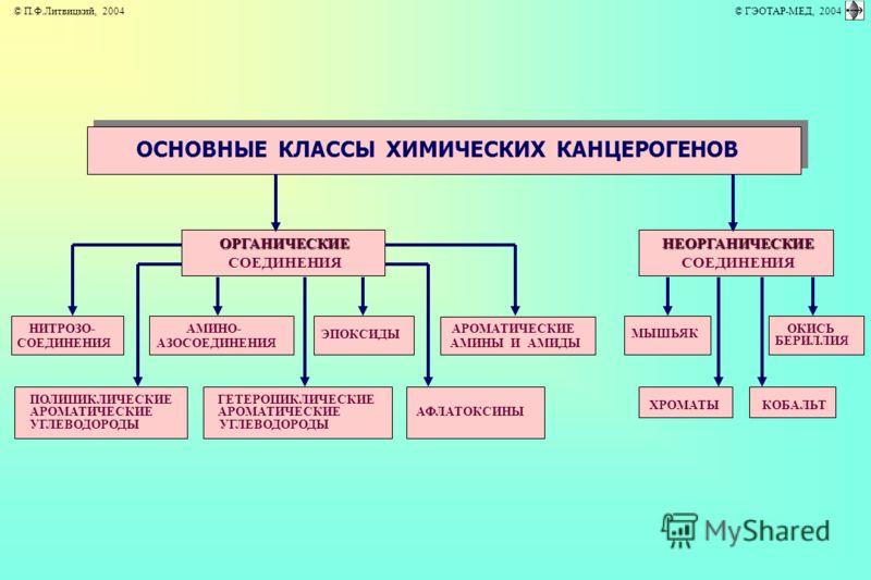 ОСНОВНЫЕ КЛАССЫ ХИМИЧЕСКИХ КАНЦЕРОГЕНОВ ОРГАНИЧЕСКИЕ СОЕДИНЕНИЯ АМИНО- АЗОСОЕДИНЕНИЯ ГЕТЕРОЦИКЛИЧЕСКИЕ АРОМАТИЧЕСКИЕ УГЛЕВОДОРОДЫ ЭПОКСИДЫ ПОЛИЦИКЛИЧЕСКИЕ АРОМАТИЧЕСКИЕ УГЛЕВОДОРОДЫ НИТРОЗО- СОЕДИНЕНИЯ АФЛАТОКСИНЫ АРОМАТИЧЕСКИЕ АМИНЫ И АМИДЫ НЕОРГАНИ