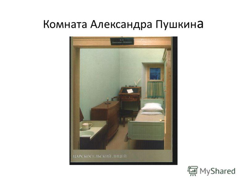 Комната Александра Пушкин а
