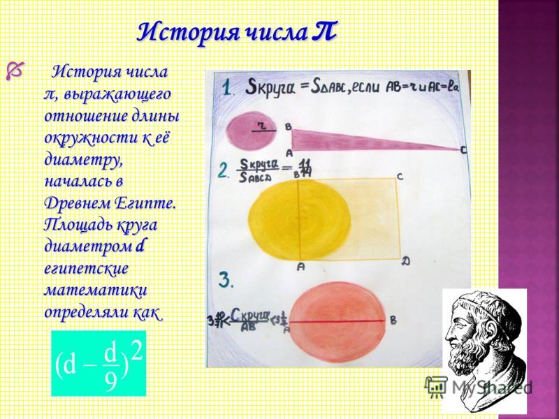 Впервые обозначением этого числа греческой буквой воспользовался британский математик Джонс (1706), а общепринятым оно стало после работ Эйлера. Впервые обозначением этого числа греческой буквой воспользовался британский математик Джонс (1706), а общ