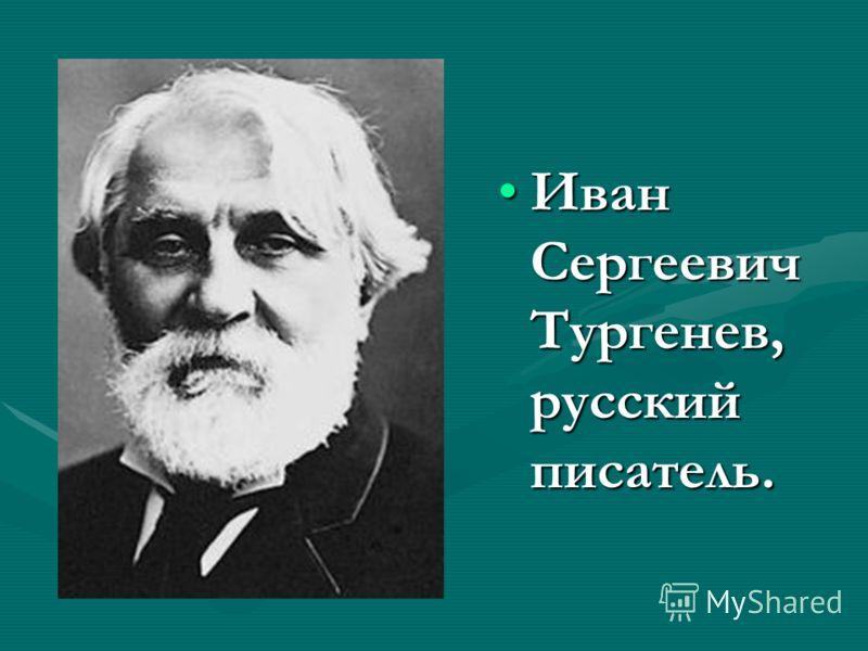 Иван Сергеевич Тургенев, русский писатель.