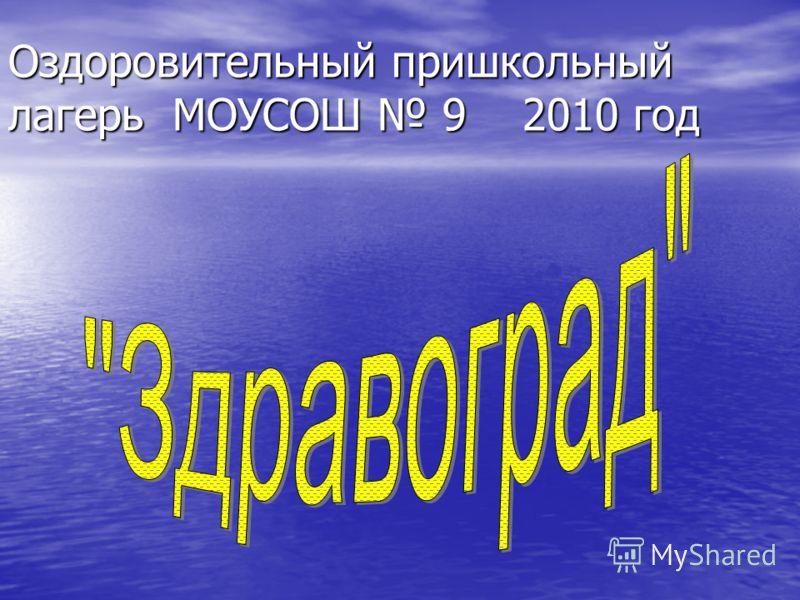 Оздоровительный пришкольный лагерь МОУСОШ 9 2010 год