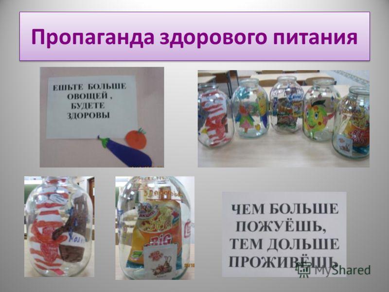 Пропаганда здорового питания