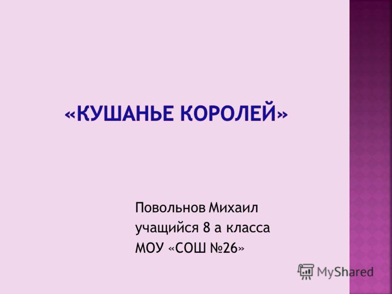 Повольнов Михаил учащийся 8 а класса МОУ «СОШ 26»