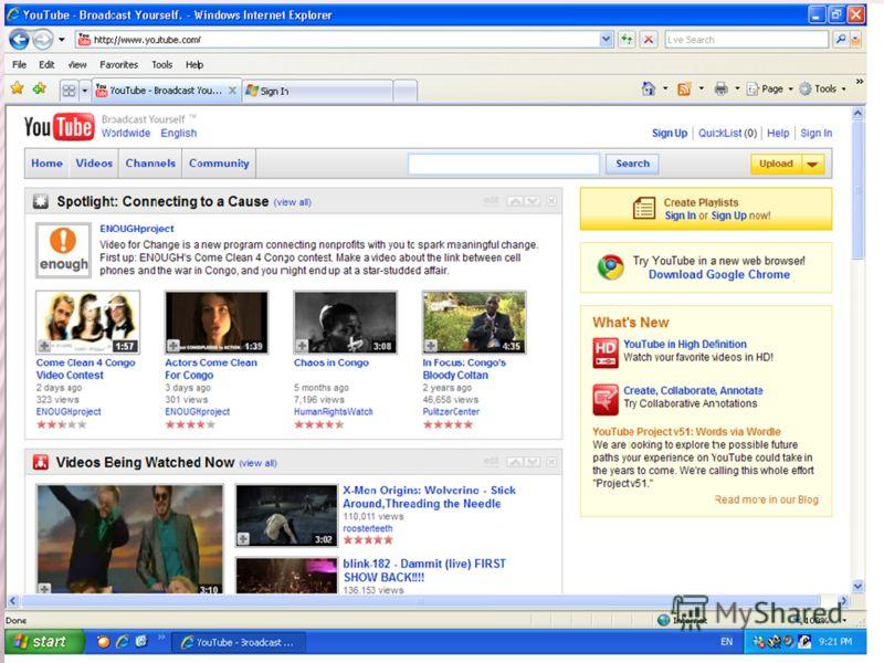 Функционира на сличен начин како Google Video, може да се поставуваат видеа од страна на индивидуалци само доколку се логирани корисници.