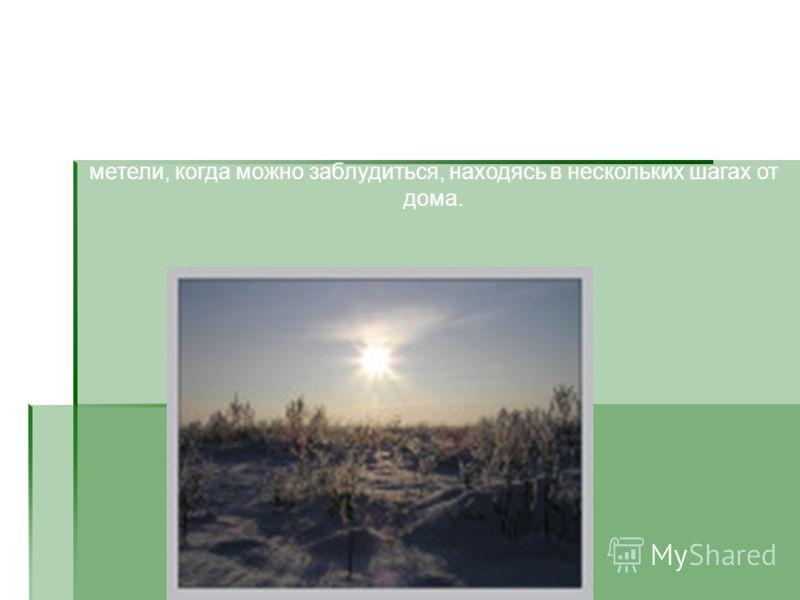 Зимой в степях обычны лютые морозы и сильные ветры, температура падает до -40°. Земля крепко скована холодом. Под ударом лопаты она звенит, как железо. Особенно страшны в степи метели, когда можно заблудиться, находясь в нескольких шагах от дома.
