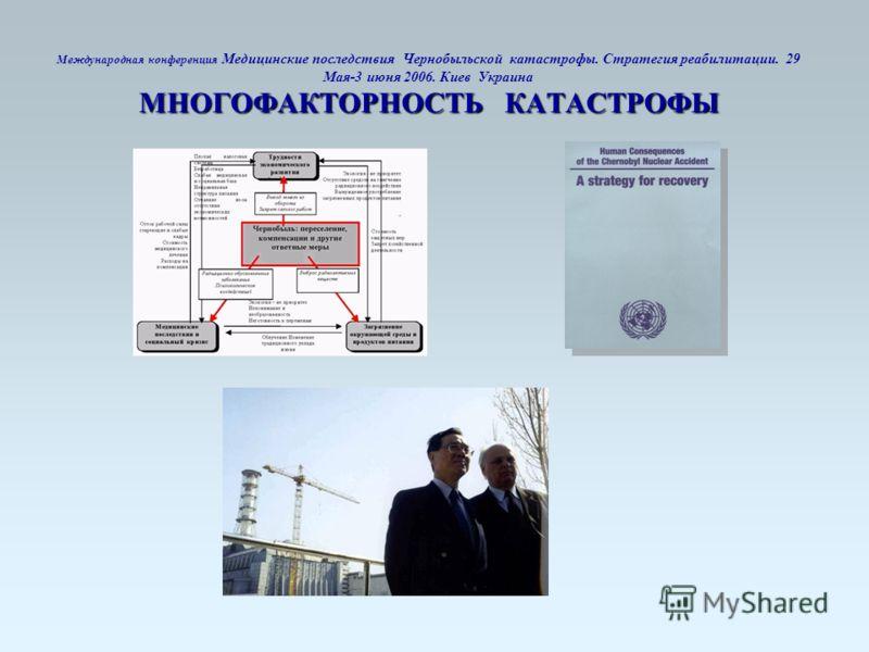 МНОГОФАКТОРНОСТЬ КАТАСТРОФЫ Международная конференция Медицинские последствия Чернобыльской катастрофы. Стратегия реабилитации. 29 Мая-3 июня 2006. Киев Украина МНОГОФАКТОРНОСТЬ КАТАСТРОФЫ