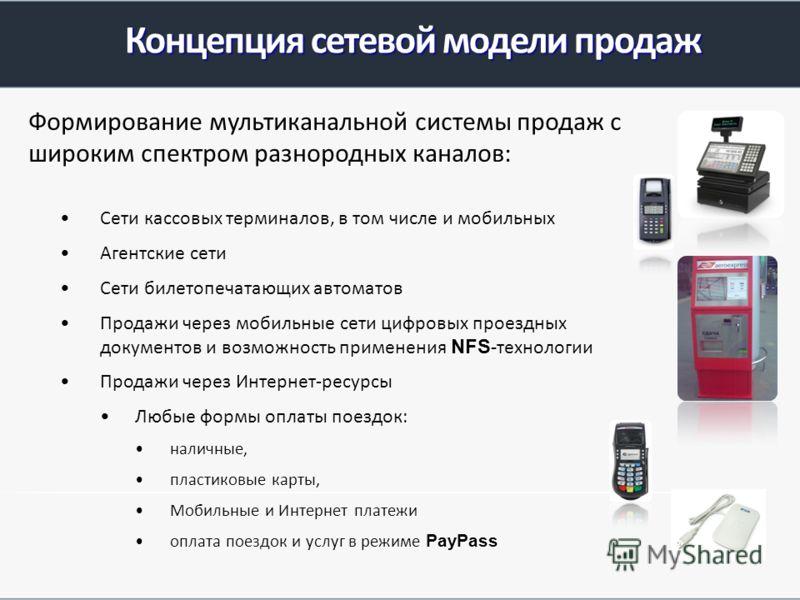 Сети кассовых терминалов, в том числе и мобильныхСети кассовых терминалов, в том числе и мобильных Агентские сетиАгентские сети Сети билетопечатающих автоматовСети билетопечатающих автоматов Продажи через мобильные сети цифровых проездных документов