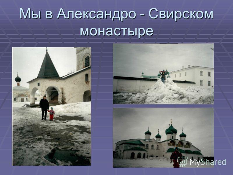 Мы в Александро - Свирском монастыре