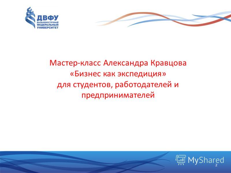 Мастер-класс Александра Кравцова «Бизнес как экспедиция» для студентов, работодателей и предпринимателей 2