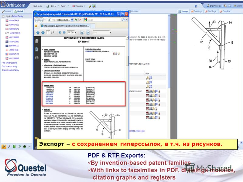 PDF & RTF Exports: By invention-based patent families With links to facsimiles in PDF, drawings mosaics, citation graphs and registers PDF & RTF Exports: By invention-based patent families With links to facsimiles in PDF, drawings mosaics, citation g