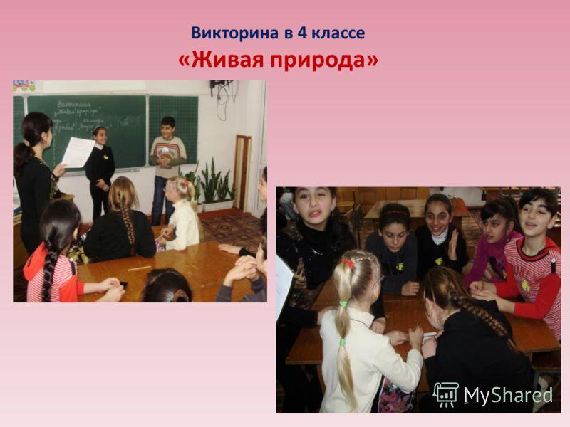 Викторина в 4 классе «Живая природа»