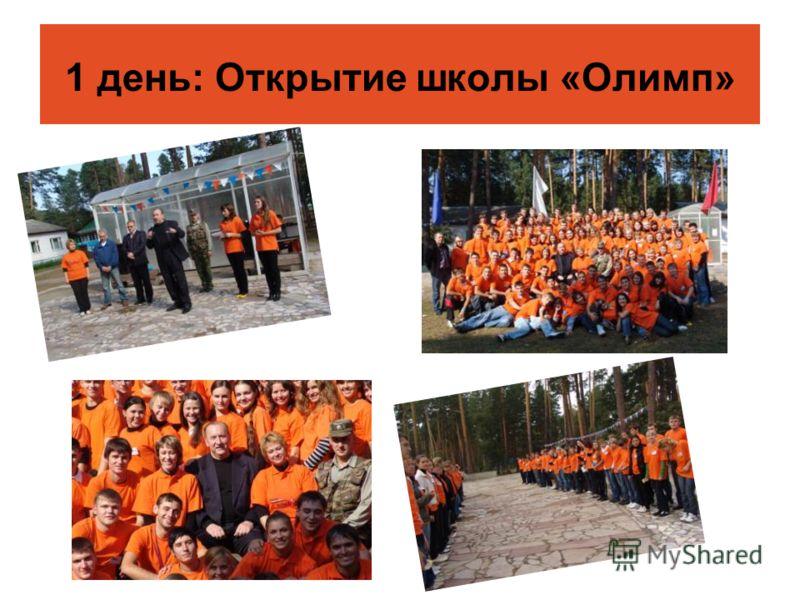 1 день: Открытие школы «Олимп»