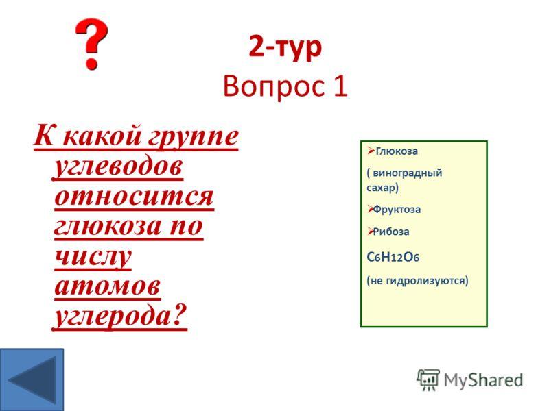 Моносахариды Глюкоза ( виноградный сахар) Фруктоза Рибоза С 6 Н 12 О 6 (не гидролизуются)