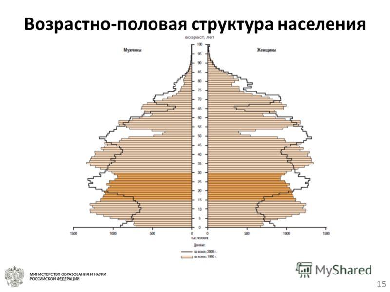 15 Возрастно-половая структура населения