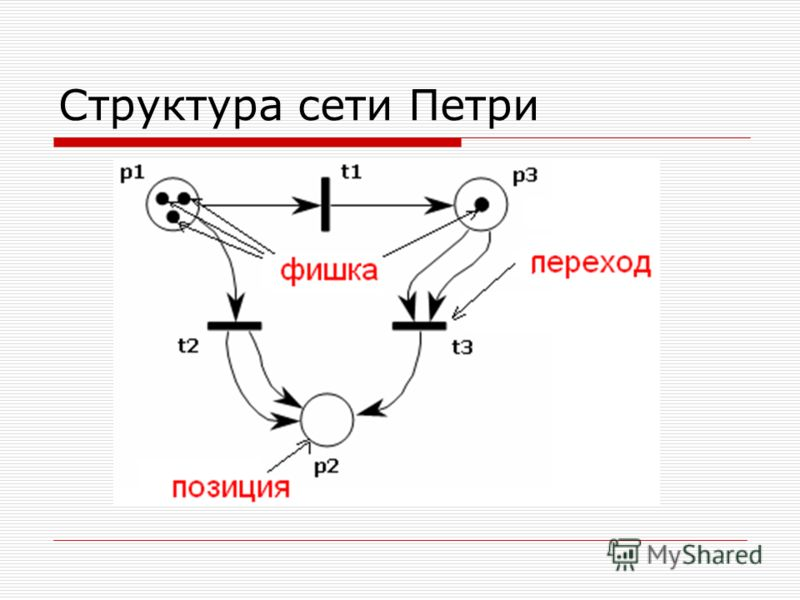 Структура сети Петри