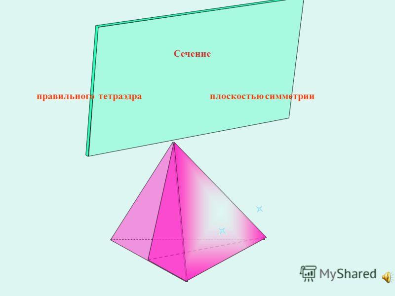 правильного тетраэдра плоскостью симметрии Сечение