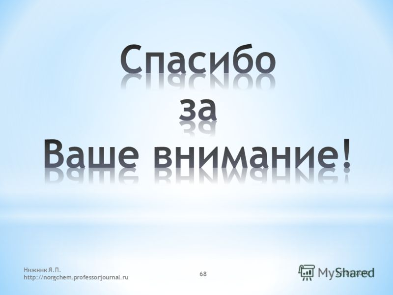 27.09.2012 Нижник Я.П. http://norgchem.professorjournal.ru 68