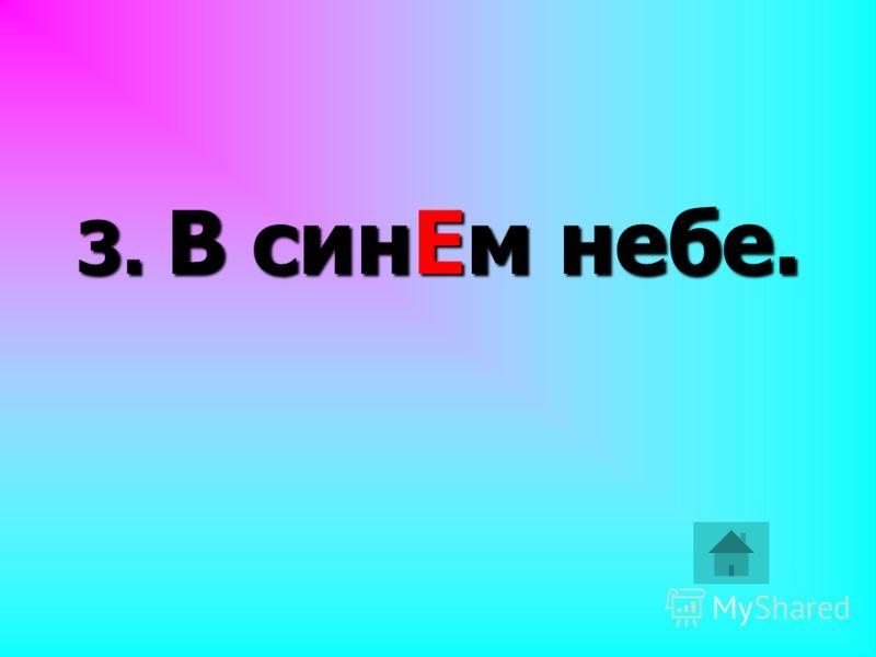 3. В синЕм небе.