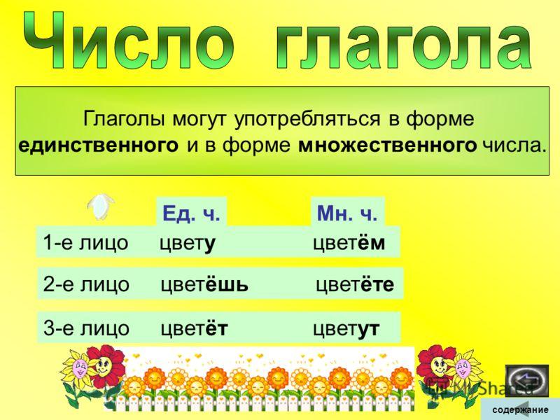 Глаголы в форме 1-го лица указывают на то, что действие совершается говорящим. Я пишу письмо. Мы пишем письма. Глаголы в форме 2-го лица указывают на то, что действие совершает тот, к кому обращаются. Вечером ты поможешь маме. Летом вы поможете бабуш