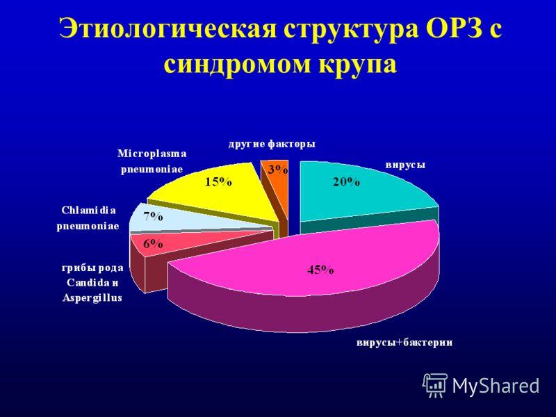 Этиологическая структура ОРЗ с синдромом крупа