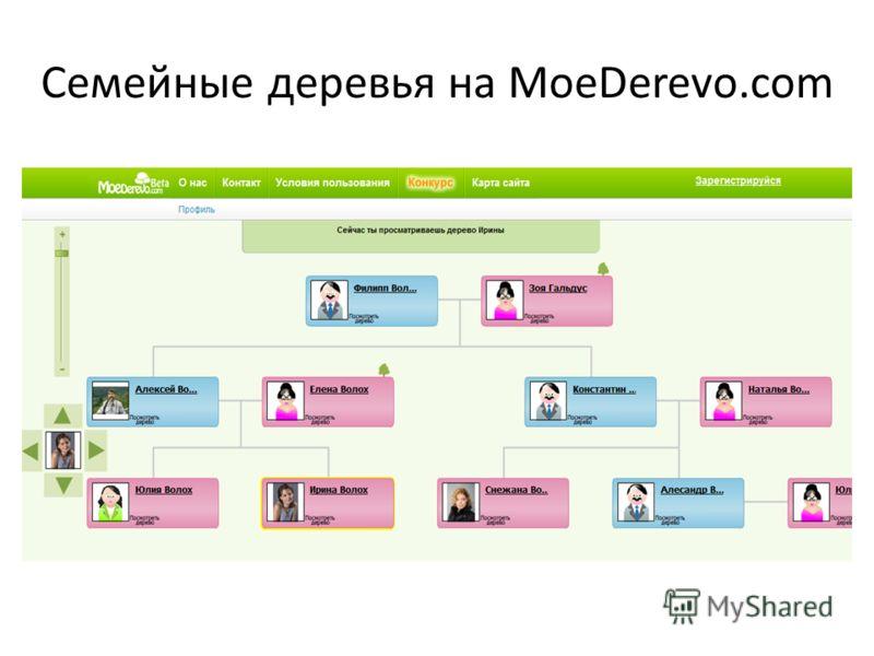 Семейные деревья на MoeDerevo.com