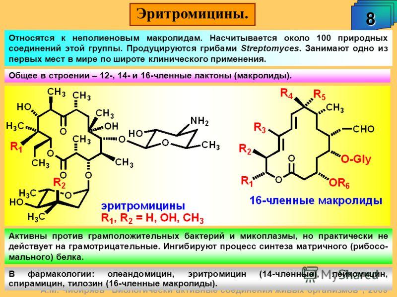 Эритромицины. 8 А.М. Чибиряев