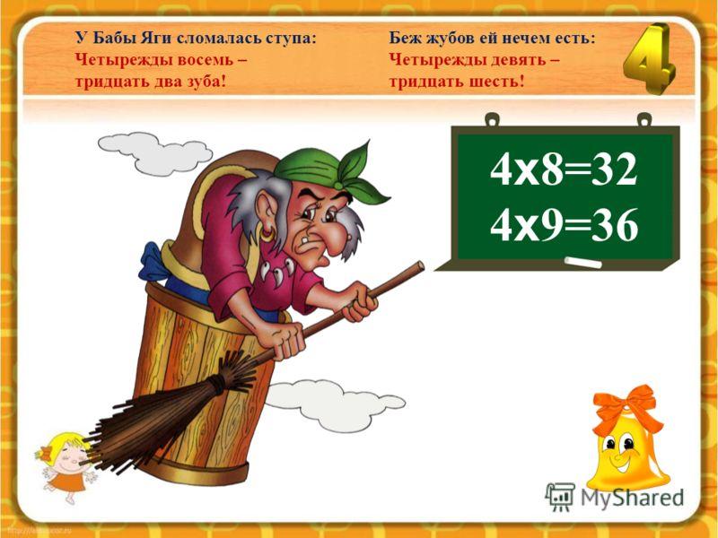 4 х 7=28 Цыплят считают под осень: Четырежды семь – двадцать восемь.