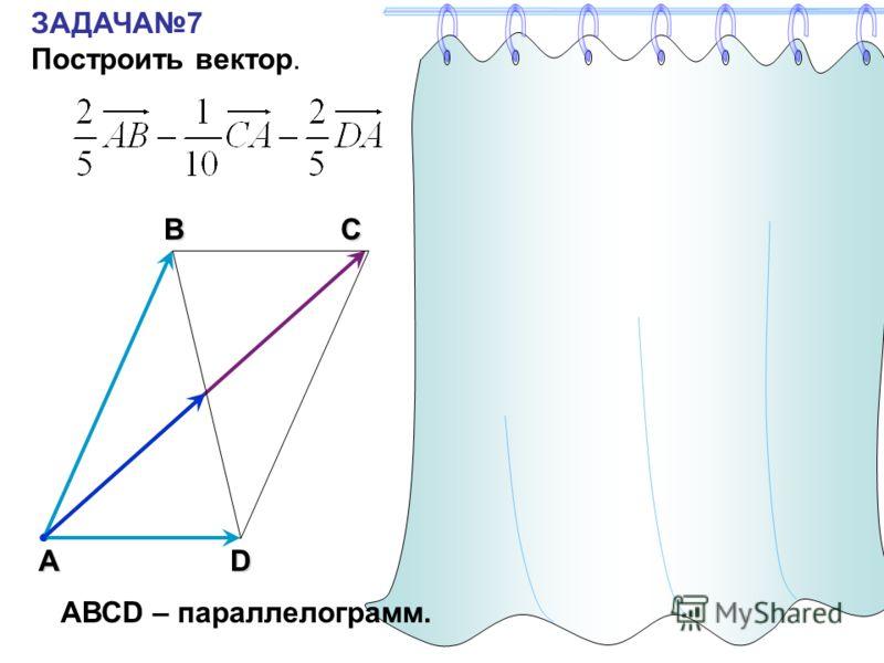 ЗАДАЧА7 Построить вектор.С А В DAC АВСD – параллелограмм.