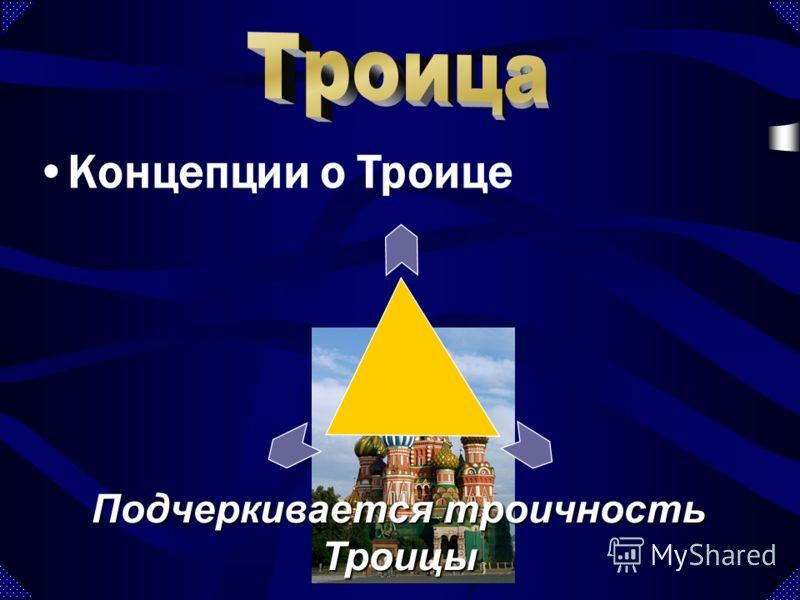 Подчеркивается троичность Троицы Концепции о Троице