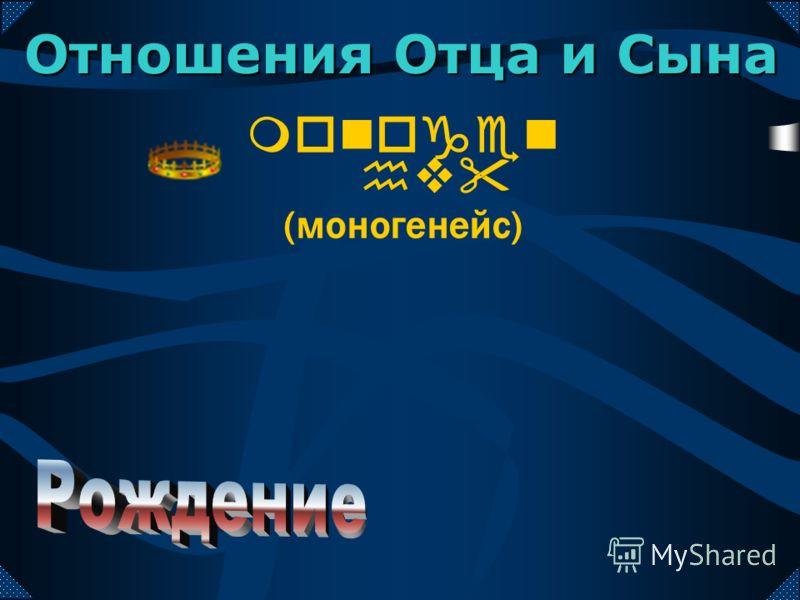 monogen hv (моногенейс) Отношения Отца и Сына