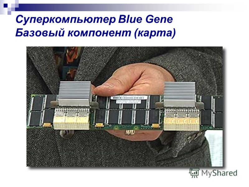 Суперкомпьютер Blue Gene Базовый компонент (карта)