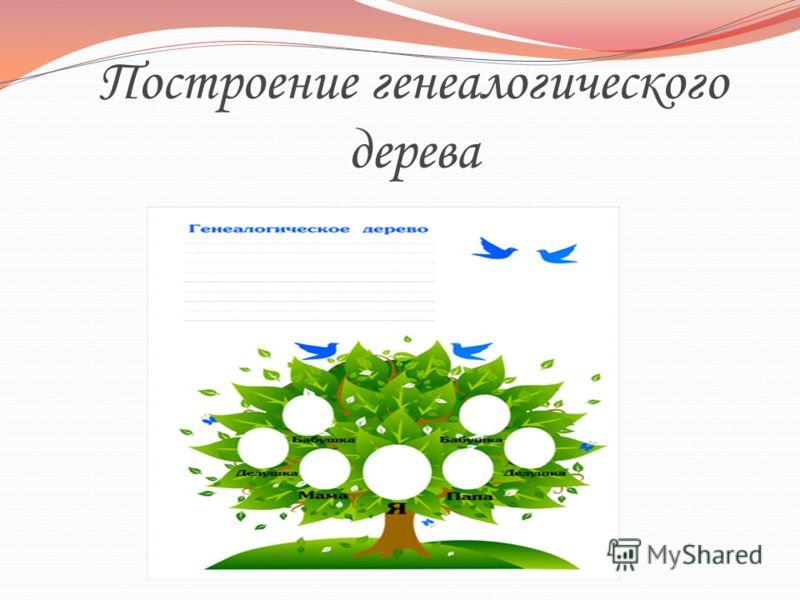 Построение генеалогического дерева