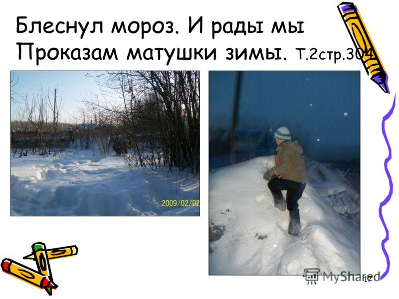 17 Блеснул мороз. И рады мы Проказам матушки зимы. Т.2стр.304
