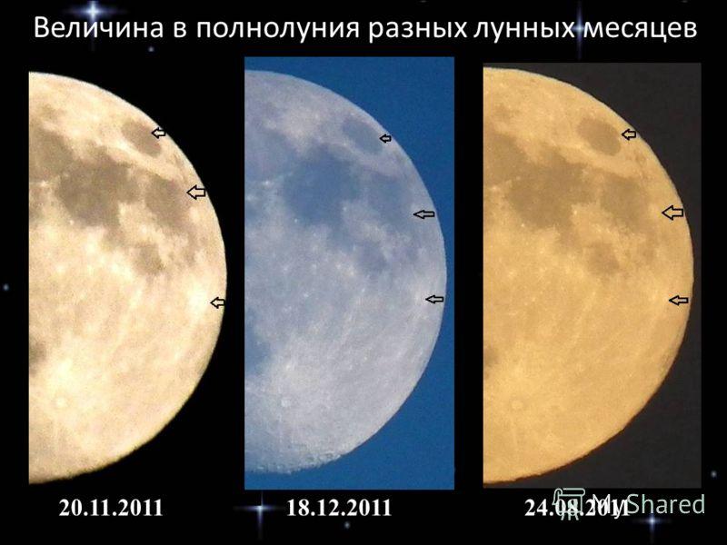 20.11.201118.12.201124.08.2011 Величина в полнолуния разных лунных месяцев