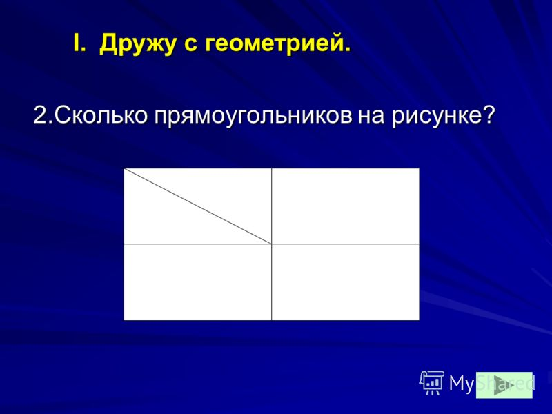 2.Сколько прямоугольников на рисунке? I. Дружу с геометрией.