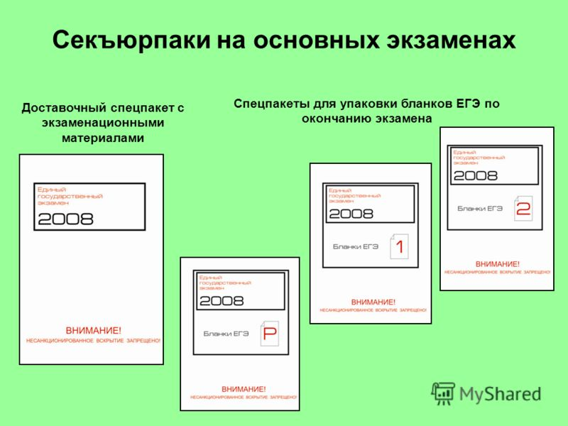Доставочный спецпакет с экзаменационными материалами Спецпакеты для упаковки бланков ЕГЭ по окончанию экзамена Секъюрпаки на основных экзаменах
