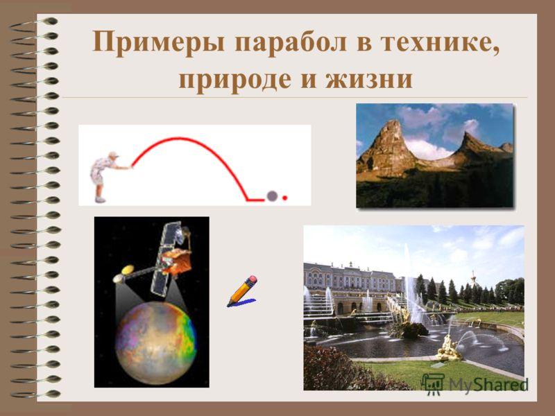 Примеры парабол в технике, природе и жизни