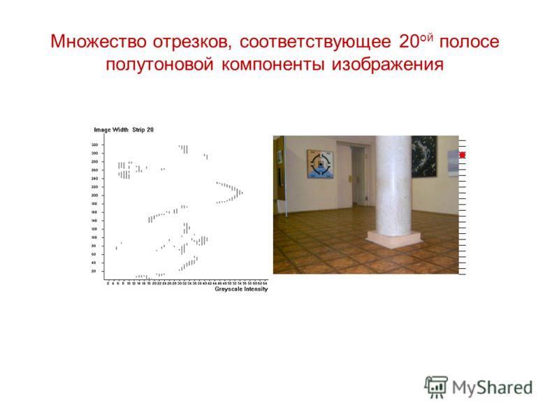 Множество отрезков, соответствующее 20 ой полосе полутоновой компоненты изображения