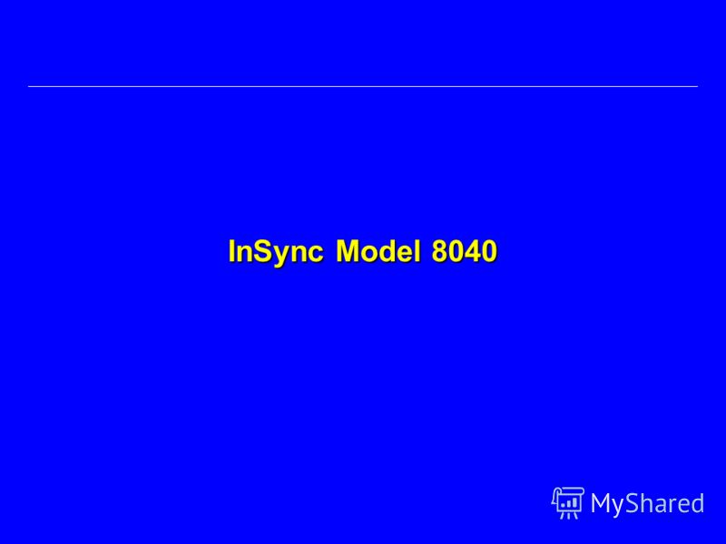 InSync Model 8040