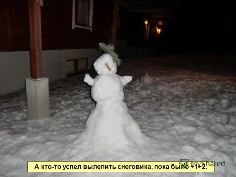 А кто-то успел вылепить снеговика, пока было +1+2.