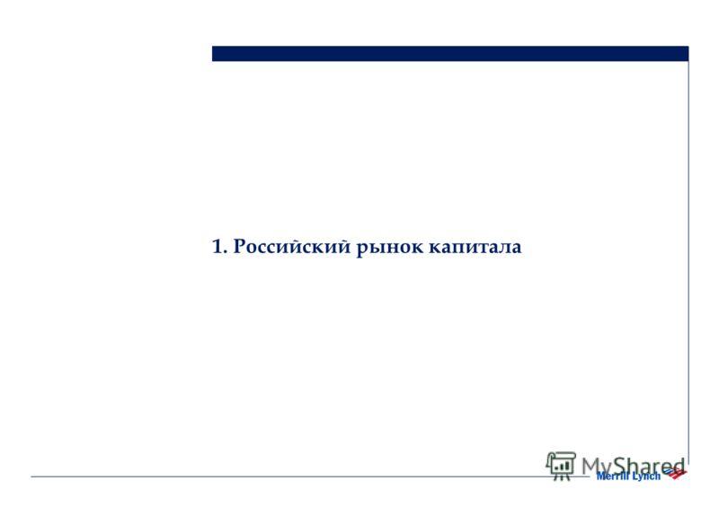 1. Российский рынок капитала