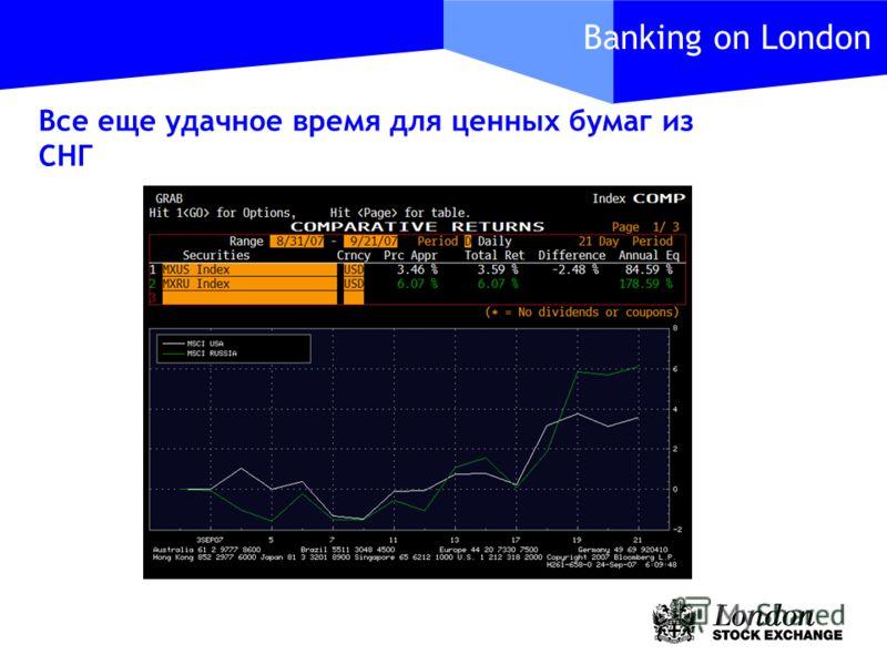 Banking on London Все еще удачное время для ценных бумаг из СНГ