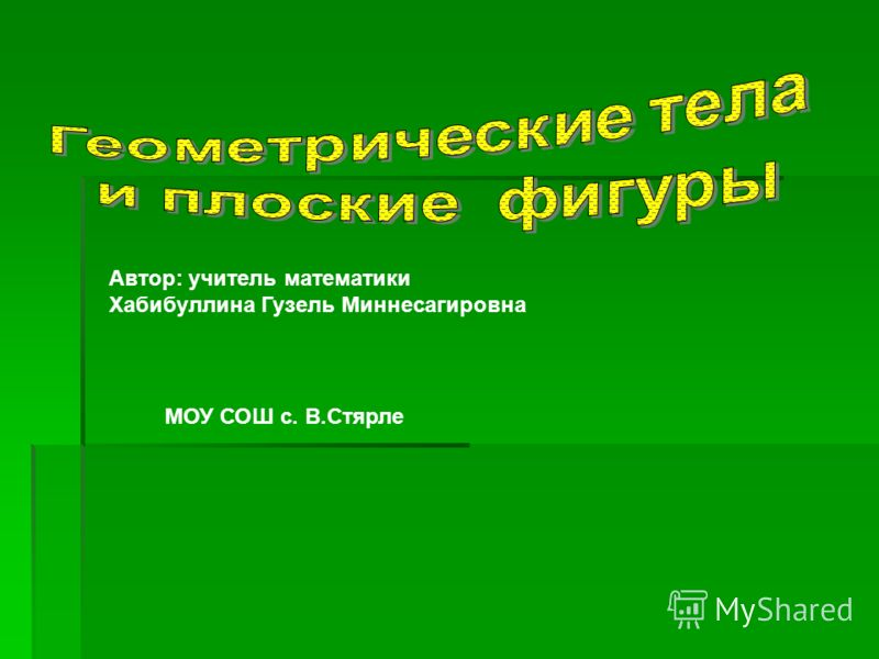 Автор: учитель математики Хабибуллина Гузель Миннесагировна МОУ СОШ с. В.Стярле