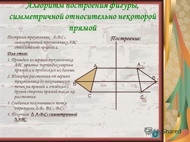 14 Осевая симметрия Опр.: Осевая симметрия – это симметрия относительно проведенной оси (прямой). Опр.: Точки А и В симметричны относительно некоторой прямой а, если эти точки лежат на прямой, перпендикулярной данной, и на одинаковом расстоянии. Опр.