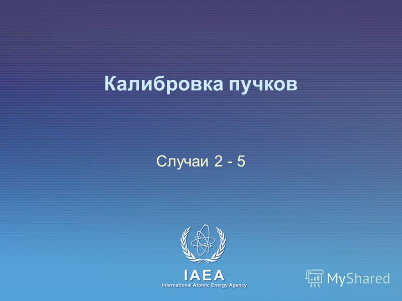 IAEA International Atomic Energy Agency Калибровка пучков Случаи 2 - 5