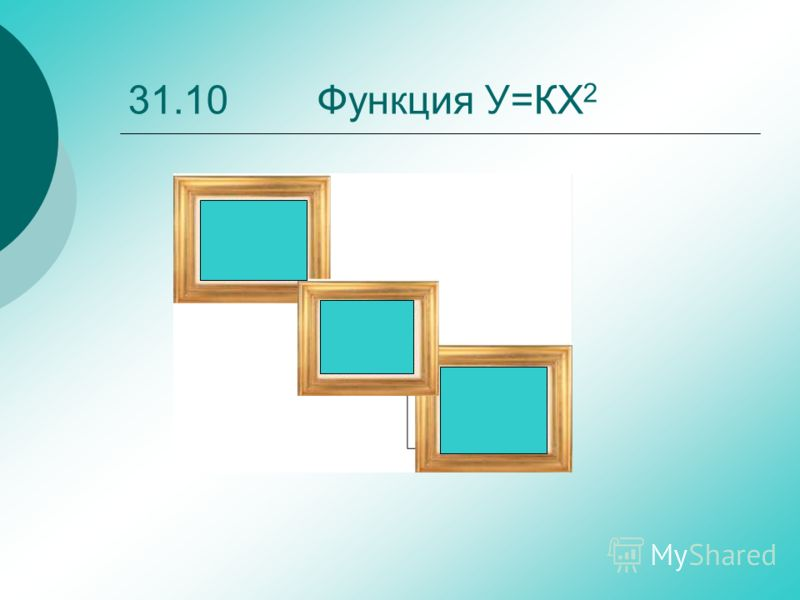31.10 Функция У=КХ 2